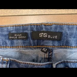 STS Blue Jeans - STS Blue Distressed Emma Ankle Skinny Jeans